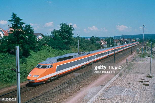 Beginning of the French HighSpeed Train the TGV