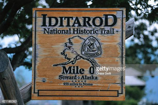 beginning of the iditarod trail - iditarod stock pictures, royalty-free photos & images