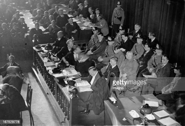 Beginning of the Reichstag fire process Supreme Court in Leipzig Defendants Marinus van der Lubbe Torgler George Dimitrov Vasil Tanev and Blagoi...