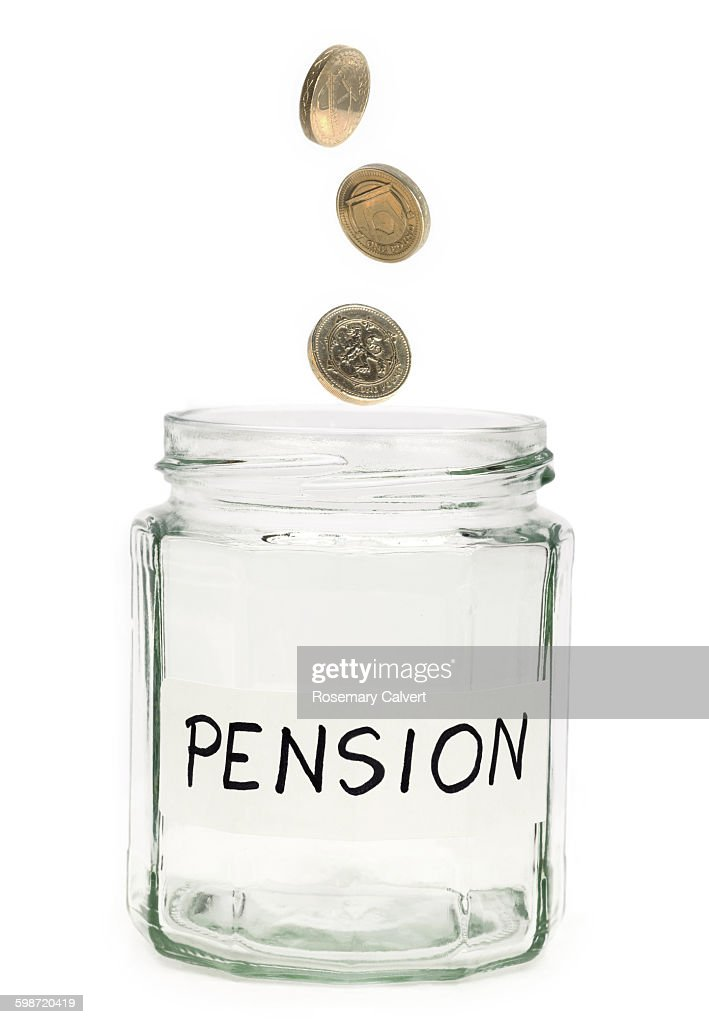 Beginning to save for a pension : Stock Photo
