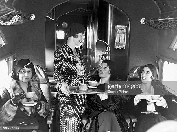 Beginning today a group of attractive young ladies will greet travelers riding the great transport planes of the Eastern Air Transport Co between...