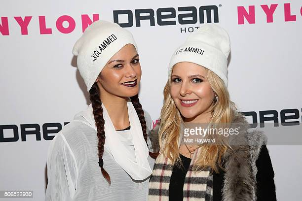 beGlammed cofounder Maile Pacheco and Alexandra Amodio attend NYLON Dream Hotels Apres Ski at Sundance Film Festival on January 23 2016 in Park City...