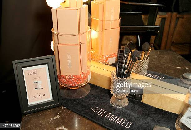 beGlammed products are displayed at the NYLON Young Hollywood Party presented by BCBGeneration at HYDE Sunset Kitchen Cocktails on May 7 2015 in West...