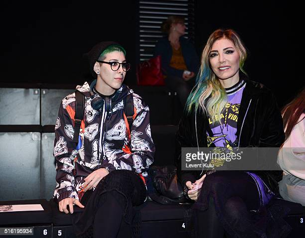 Begüm Berdan and Deniz Berdan attend the Mercedes Benz Celebrates Mehtap Elaidi show during the MercedesBenz Fashion Week Istanbul Autumn/Winter 2016...
