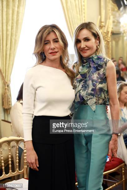 Begoña Gómez attends Hannibal Laguna fashion show where he is presenting his new Bridal Collection 'Divine Secret' at Palacio Fernan Nunez on March...