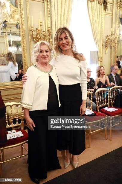 Begoña Gómez attends Hannibal Laguna fashion show where he is presenting his new Bridal Collection 'Divine Secret' at Palacio Fernan Nunez on March...