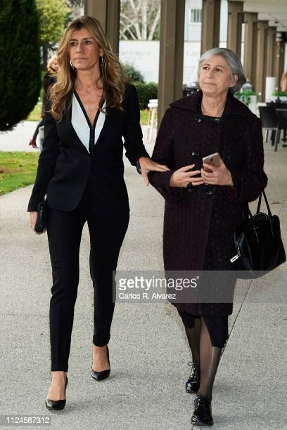 Begoña Gomez and Pepa Bueno attend the Elio Berhanyer Funeral Chapel at Museo del Traje on January 24 2019 in Madrid Spain
