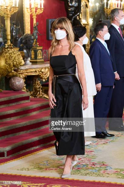 Begoña Gomez attends a State Dinner honouring Korean President at the Royal Palace on June 15, 2021 in Madrid, Spain.