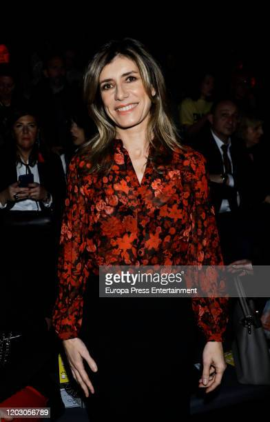 Begoña Gomez attends Hannibal Laguna fashion show during the Mercedes Benz Fashion Week Autum/Winter 202021 at Ifema on January 30 2020 in Madrid...