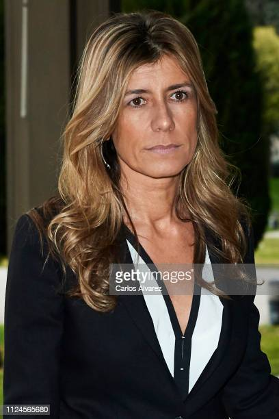 Begoña Gomez attends the Elio Berhanyer Funeral Chapel at Museo del Traje on January 24 2019 in Madrid Spain