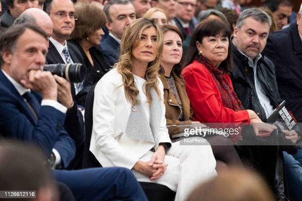 Begoña Gomez attends the presentation of his book 'Manual de resistencia' in Madrid, Spain, 21 February 2019.