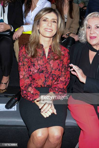 Begoña Gomez during in fashion show during Mercedes Benz Fashion Week Madrid Autumn/Winter 202021 on January 30 2020 in Madrid Spain
