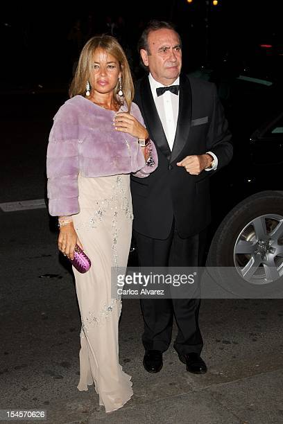 Begona Garcia Vaquero and husband Pedro Trapote attend the Cartier Exhibition Gala presentation at the Museum Thyssen Bornemisza on October 22 2012...