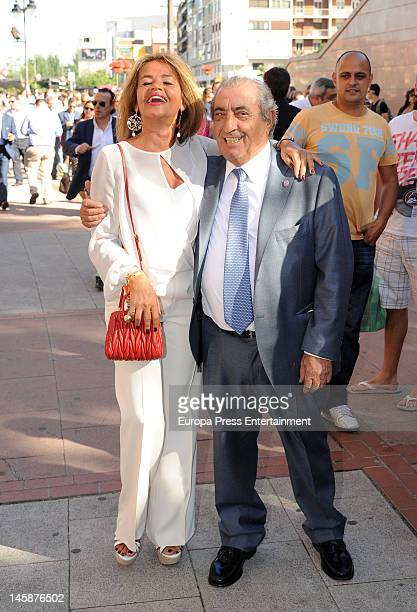 Begona Garcia Vaquero and Juan Jose Hidalgo attend Beneficiencia bullfight at Plaza de Toros de Las Ventas on June 6 2012 in Madrid Spain