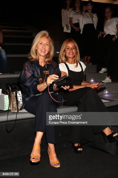 Begona Garcia Vaquero and Mar Garcia Vaquero are seen at the xxxx show during MercedesBenz Fashion Week Madrid Spring/Summer 2018 at Ifema on...