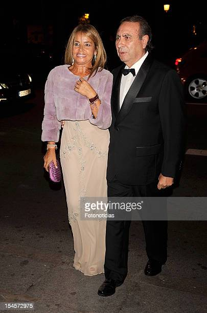 Begona Garcia Vaquero and Pedro Trapote arrive to the 'Cartier Exhibition' gala presentation at the Museum Thyssen Bornemisza on October 22 2012 in...