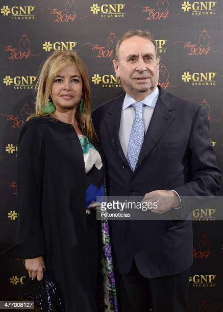 Begona Garcia Vaquero and Pedro Trapote attend bullfighter Jose Antonio Morante Camacho Morante de la Puebla performance season 2014 presentation at...