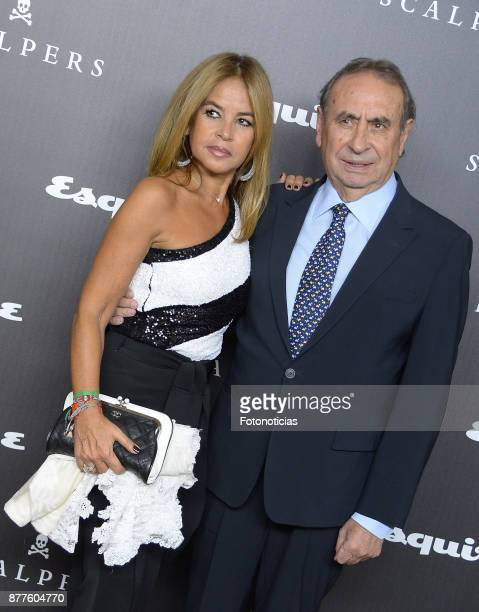 Begona Garcia Vaquero and Pedro Trapote attend Esquire and Scalpers 10th anniversary party at the Palacio de Santa Coloma on November 22 2017 in...