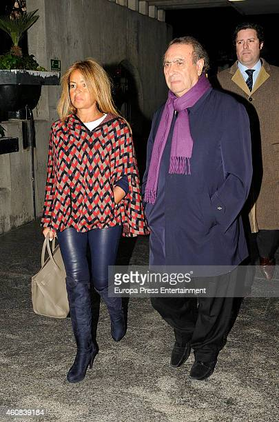 Begona Garcia Vaquero and Pedro Trapote attend the funeral chapel for Victoriano Cuevas at M30 Morgue on December 23 2014 in Madrid Spain