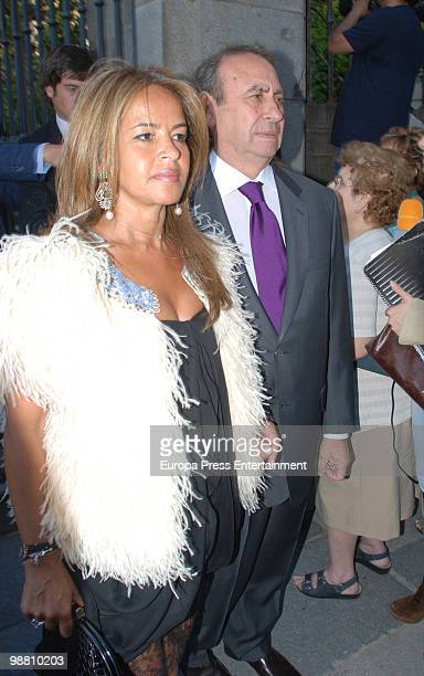 Begona Garcia Vaquero and Pedro Trapote attend the wedding of Pepito Marquez y Gonzalez de Gregorio Duchess of Fernandina's son and Edina Zichy Earl...