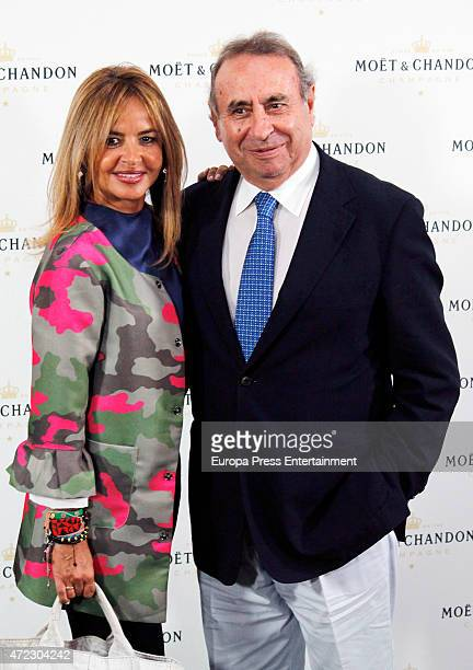 Begona Garcia Vaquero and Pedro Trapoteattend 'Moet Tiny Tennis' event at French Embassy on May 5 2015 in Madrid Spain