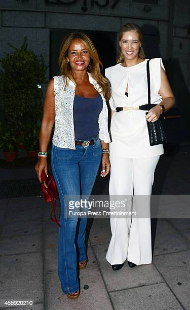 Begona Garcia Vaquero attends the Fiona Ferrer's 40th Birthday at Loft 39 restaurant on September 21 2014 in Madrid Spain