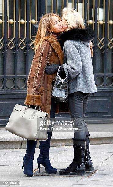 Begona Garcia Vaquero is seen on January 16 2015 in Madrid Spain