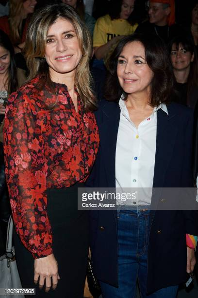 Begona Gomez and Isabel Gemio attend Hannibal Laguna fashion show during the Merecedes Benz Fashion Week Autum/Winter 202021 at Ifema on January 30...