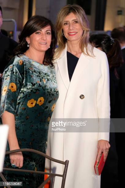 Begona Gomez attends commemorative dinner of the 40th anniversary of the FITUR at Palacio de Cibeles on January 21 2020 in Madrid Spain