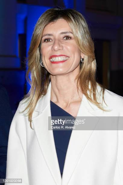 Begona Gomez attends commemorative dinner of the 40th anniversary of the FITUR at Palacio de Cibeles on January 21, 2020 in Madrid, Spain.