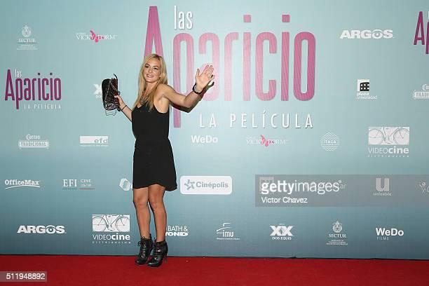 Begona Narvaez attends Las Aparicio Mexico City premiere at Cinepolis Plaza Universidad on February 23 2016 in Mexico City Mexico
