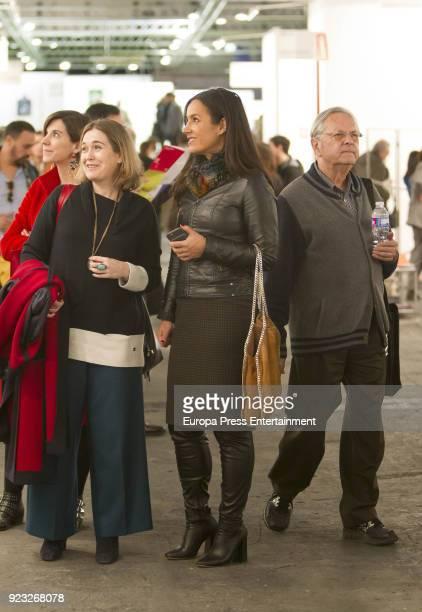 Begona Villacis and Marta Rivera de la Cruz attend the International Contemporary Art Fair ARCO 2018 at Ifema on February 22 2018 in Madrid Spain