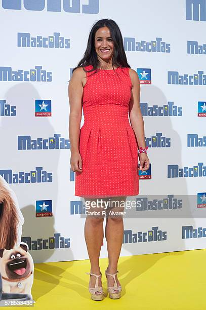 Begona Villacis attends 'Mascotas' premiere at Kinepolis cinema on July 21 2016 in Madrid Spain