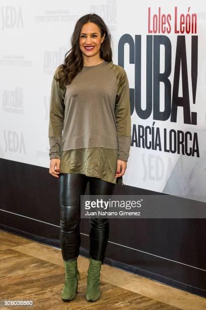 Begona Villacis attends 'ÁOh Cuba' premiere at Fernan Gomez Theater on March 1 2018 in Madrid Spain