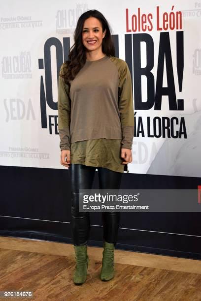 Begona Villacis attends 'Oh Cuba' premiere at Fernan Gomez Theater on March 1 2018 in Madrid Spain