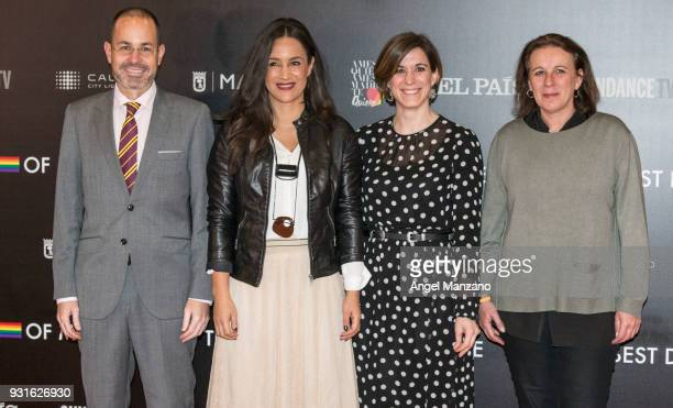 Begona Villacis attends 'The Best Day Of My Life' Madrid premiere at Callao cinema on March 13 2018 in Madrid Spain