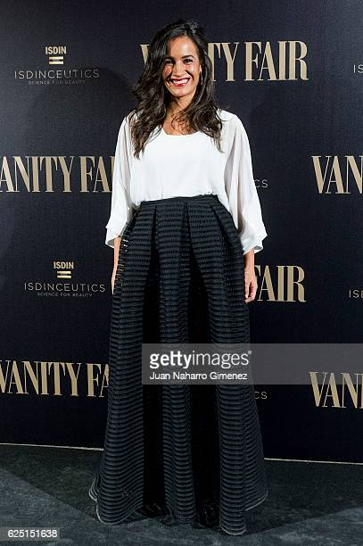 Begona Villacis attends the gala dinner of Vanity Fair to commemorate its 100 number at Real Academia de Bellas Artes de San Fernando on November 22...
