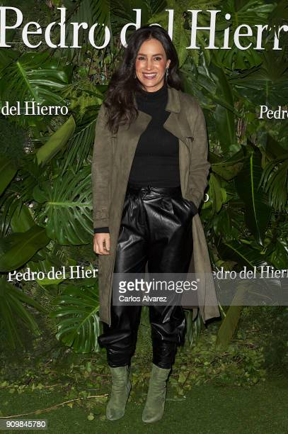 Begona Villacis attends the Pedro Del Hierro fashion show during the Mercedes Benz Fashion Week Autumn/Winter 2018 on January 24 2018 in Madrid Spain