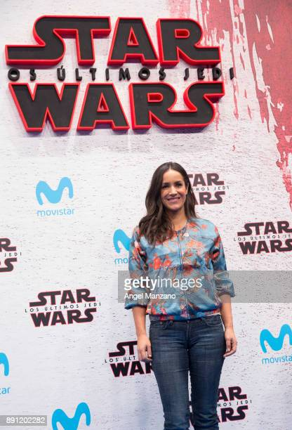 Begona Villacis attends the 'Star Wars Los Ultimos Jedi' Madrid Premiere at Kinepolis Cinema on December 12 2017 in Madrid Spain
