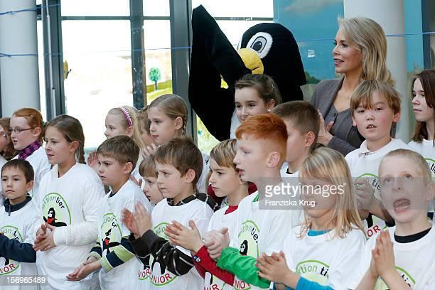 Begum Inaara Aga Khan opens Fist 'Tierschutzzimmer' At Berlin Primary School on November 26 2012 in Berlin Germany