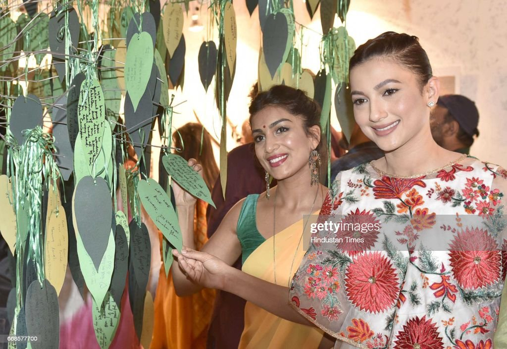 Begum Jaan film star cast Gauahar Khan and Pallavi Sharda film co star visit at Partition Museum on April 14 2017 in Amritsar India Begum Jaan is...