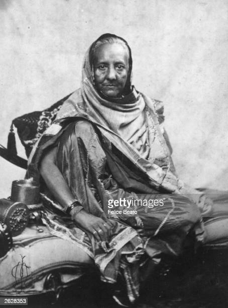 Begum Zenat Mahat Wife of the Shah or King of Delhi exiled to Rangoon after the Indian mutiny against British rule in 1857