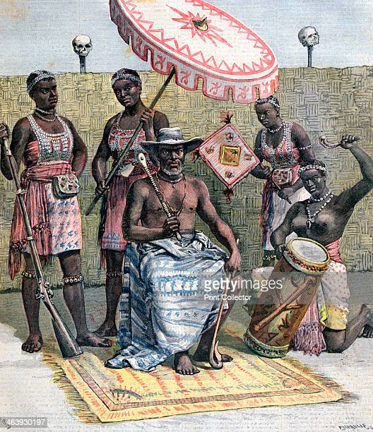Behanzin King of Dahomey 1892 A print from the Le Petit Journal 23rd April 1892