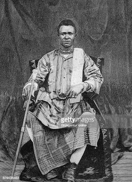 Behanzin king of the kingdom of dahomey africa historical illustration circa 1893