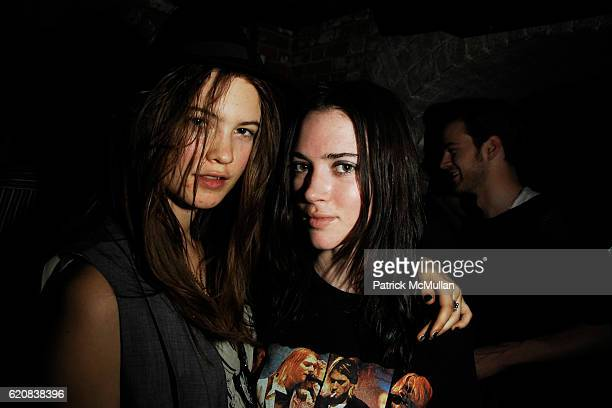 Behati Prinsloo and Rachel Alexander attend THE CINEMA SOCIETY and CALVIN KLEIN JEANS Host the After Party for 21 at The Mercer Kitchen on March 26...