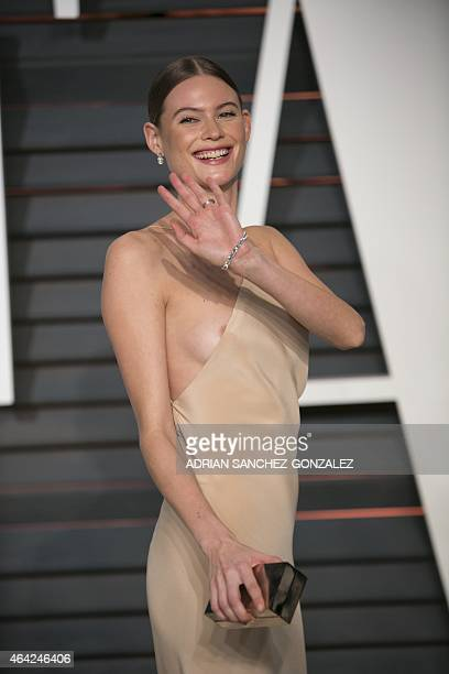 Behati Prinsloo arrives to the 2015 Vanity Fair Oscar Party February 22 2015 in Beverly Hills California GONZALEZ