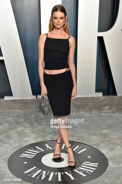 Behati Prinsloo attends the 2020 Vanity Fair Oscar Party hosted by Radhika Jones at Wallis Annenberg Center for the Performing Arts on February 09,...