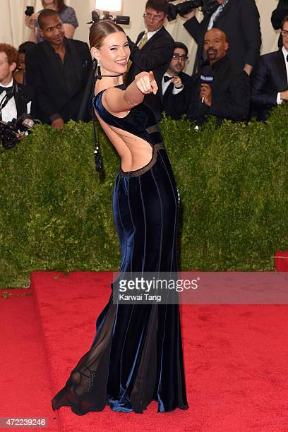 """Behati Prinsloo attends the """"China: Through The Looking Glass"""" Costume Institute Benefit Gala at Metropolitan Museum of Art on May 4, 2015 in New..."""