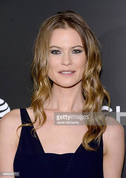 """Behati Prinsloo attends the closing night gala premiere of """"Begin Again"""" during the 2014 Tribeca Film Festival at BMCC Tribeca PAC on April 26, 2014..."""