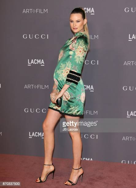 Behati Prinsloo attends the LACMA Art Film Gala honoring Mark Bradford and George Lucas on November 04 2017 in Los Angeles California